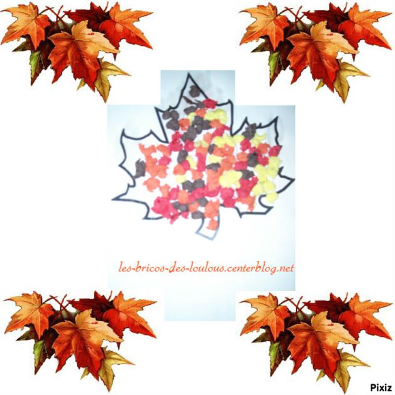 Feuille d 39 automne centerblog - Bricolage feuille d automne ...